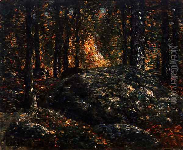 The Jewel Box, Old Lyme, 1906 Oil Painting - Childe Hassam