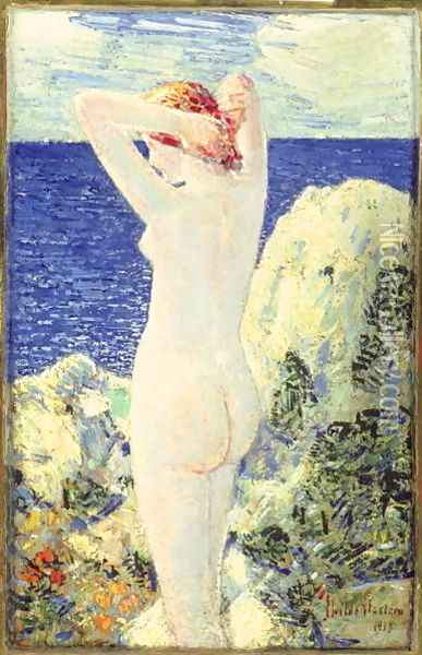 The Bather, 1915 Oil Painting - Childe Hassam