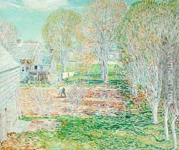 Spring Planting, 1923 Oil Painting - Childe Hassam