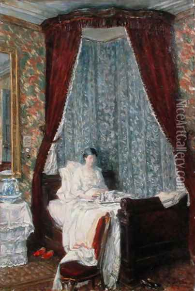 The French Breakfast Oil Painting - Childe Hassam