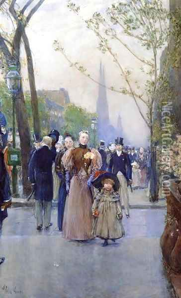 Fifth Avenue Oil Painting - Childe Hassam