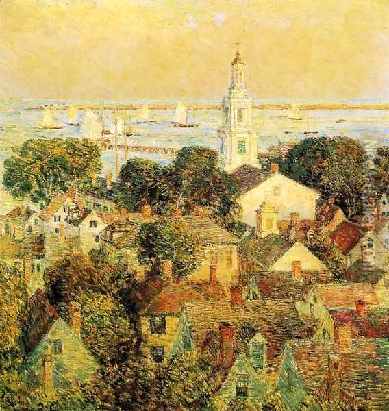 Provincetown Oil Painting - Childe Hassam