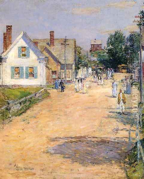 East Gloucester, End of Trolly Line Oil Painting - Childe Hassam