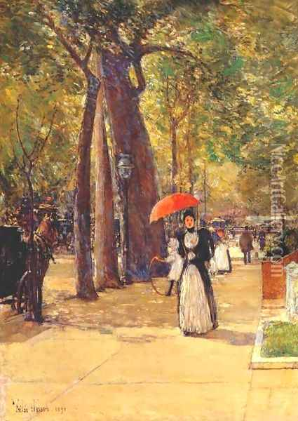 Fifth Avenue at Washington Square Oil Painting - Childe Hassam