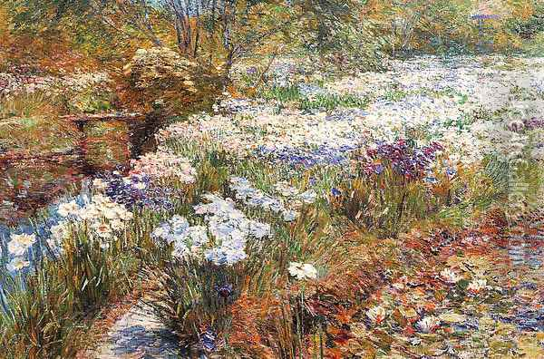 The Water Garden Oil Painting - Childe Hassam