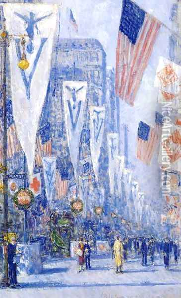 Victory Day, May 1919 Oil Painting - Childe Hassam