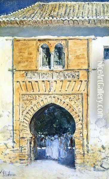 Gate of The Alhambra Oil Painting - Childe Hassam