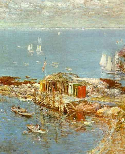 August Afternoon, Appledore Oil Painting - Childe Hassam