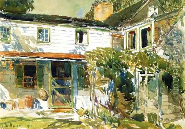Back of the Old House Oil Painting - Childe Hassam