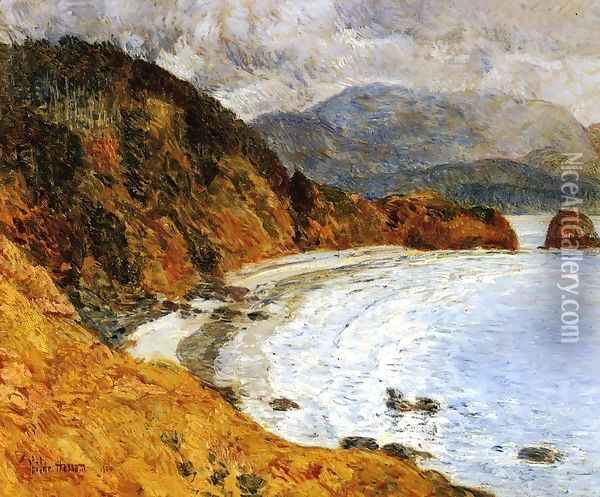 Ecola Beach, Oregon Oil Painting - Childe Hassam