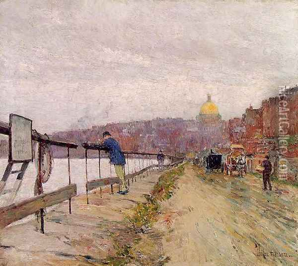 Charles River and Beacon Hill Oil Painting - Childe Hassam