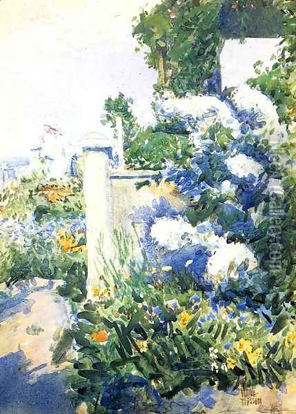Garden by the Sea, Isles of Shoals Oil Painting - Childe Hassam