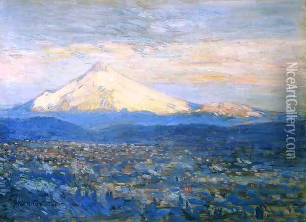 Mount Hood Oil Painting - Childe Hassam