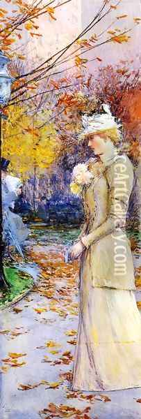 Indian Summer in Madison Square Oil Painting - Childe Hassam