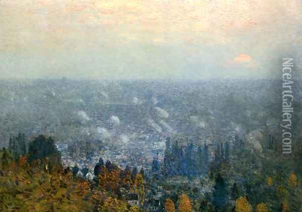 Mount Hood and the Valley of the Willamette Oil Painting - Childe Hassam