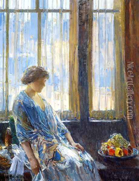 The New York Window Oil Painting - Childe Hassam