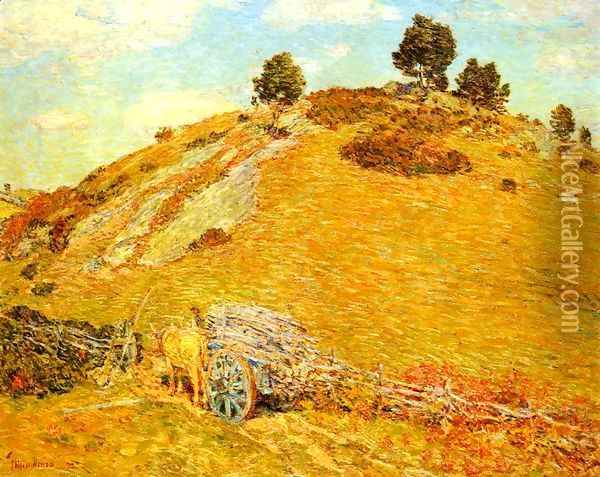Bornero Hill, Old Lyme, Connecticut Oil Painting - Childe Hassam