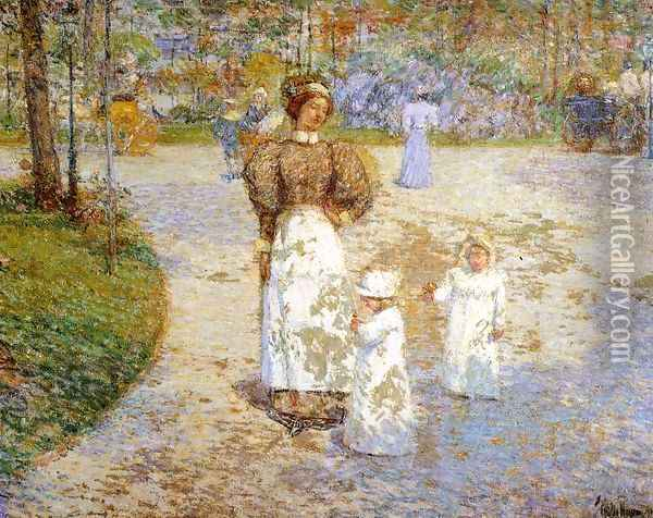 Spring in Central Park Oil Painting - Childe Hassam
