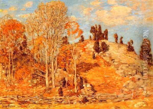 The Cedar Lot, Old Lyme Oil Painting - Childe Hassam