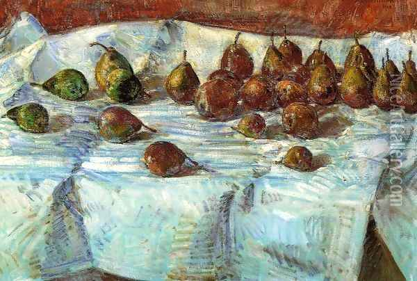 Winter Sickle Pears Oil Painting - Childe Hassam