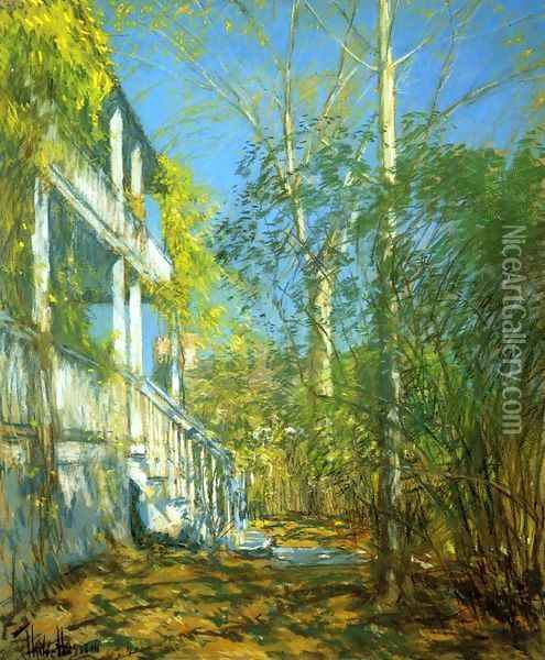 Summer at Cos Cob Oil Painting - Childe Hassam