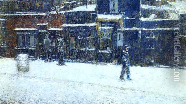 The Messanger Boy Oil Painting - Childe Hassam
