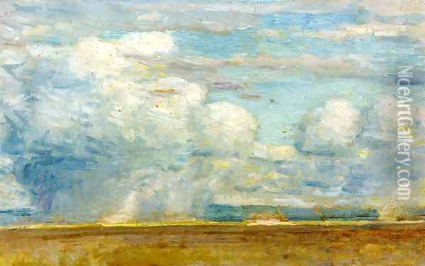 Clouds Oil Painting - Childe Hassam
