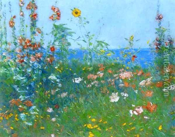 Poppies, Isles of Shoals Oil Painting - Childe Hassam