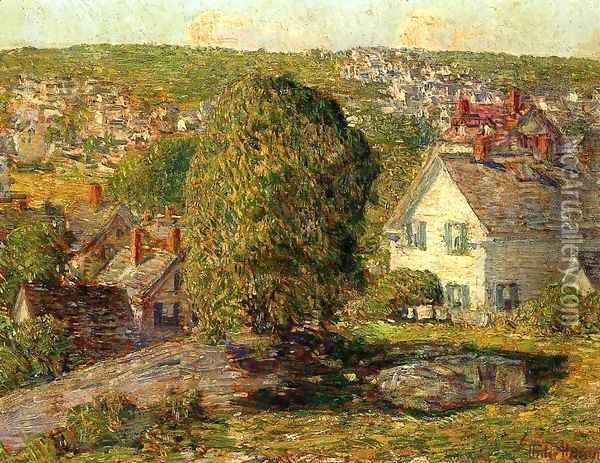Outskirts of East Gloucester Oil Painting - Childe Hassam