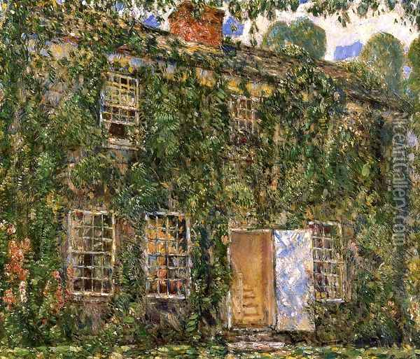 Home Sweet Home Cottage, East Hampton Oil Painting - Childe Hassam