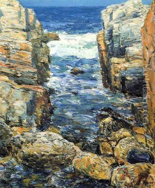 The South Gorge, Appledore, Isles of Shoals Oil Painting - Childe Hassam