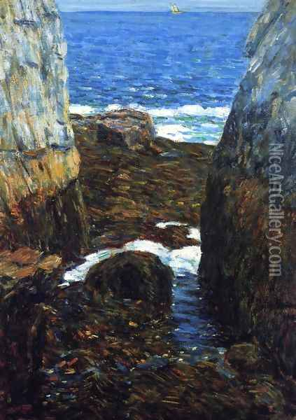 The North Gorge, Appledore, Isles of Shoals Oil Painting - Childe Hassam