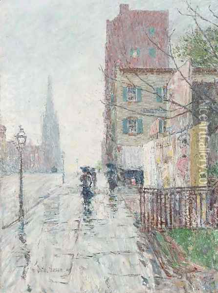 Rainy Day Oil Painting - Childe Hassam