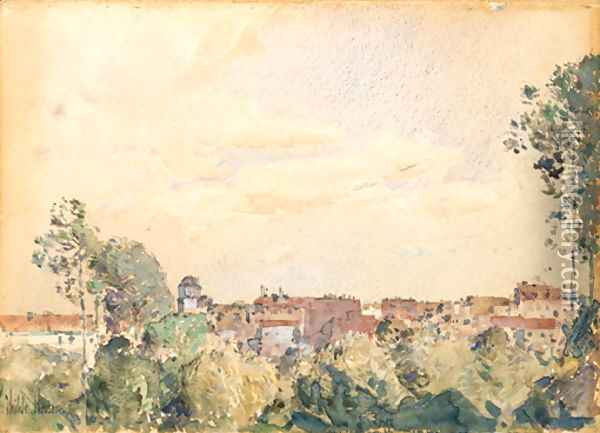Roman View Oil Painting - Childe Hassam