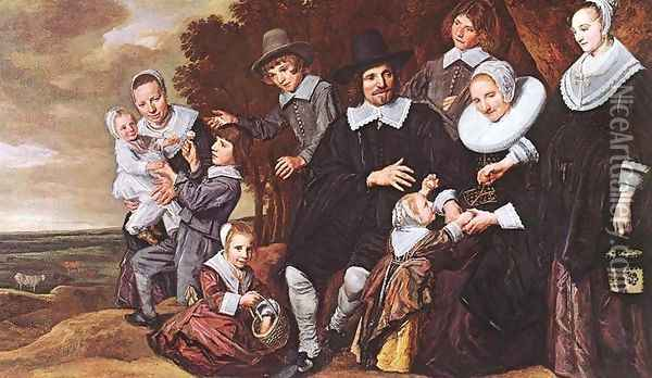 Family Group in a Landscape (2) c. 1648 Oil Painting - Frans Hals