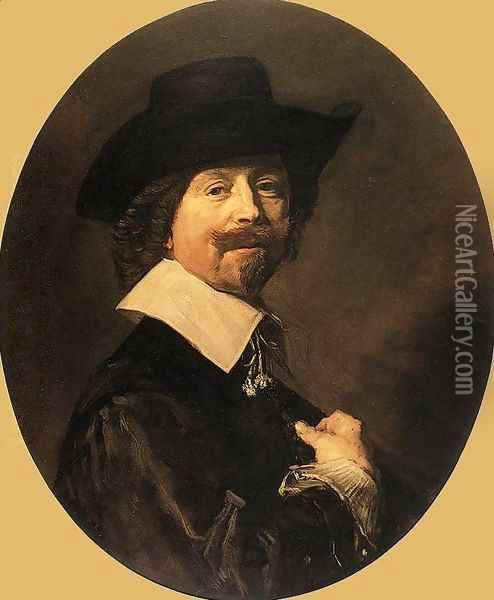 Portrait of a Man 1644 Oil Painting - Frans Hals