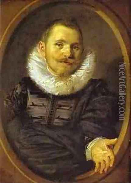 Portrait Of A Man In A Travellers Hat 1660-66 Oil Painting - Frans Hals