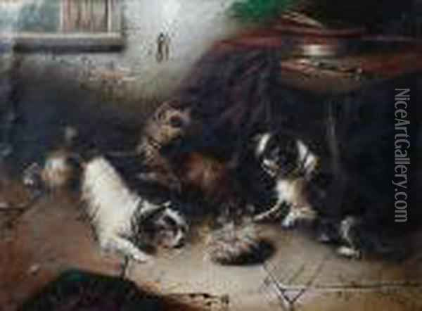 The Hot Paunch A Little Too Hot Oil Painting - George Armfield