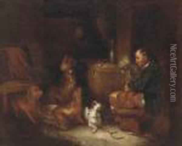 A Melody From Master Oil Painting - George Armfield