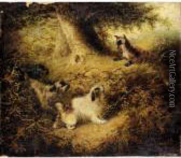 Chasing The Fox Oil Painting - George Armfield