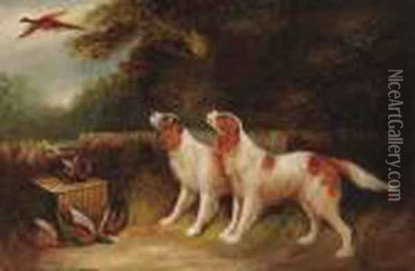 The Day's Bag; And Terriers Ratting Oil Painting - George Armfield