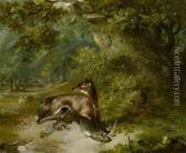 The Fox And The Dove Oil Painting - George Armfield