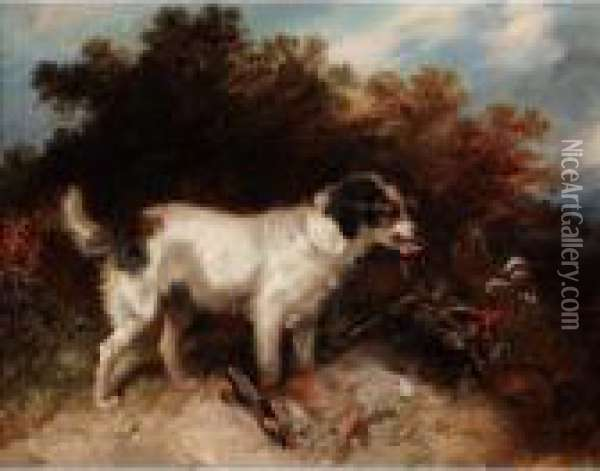 Caught! Oil Painting - George Armfield