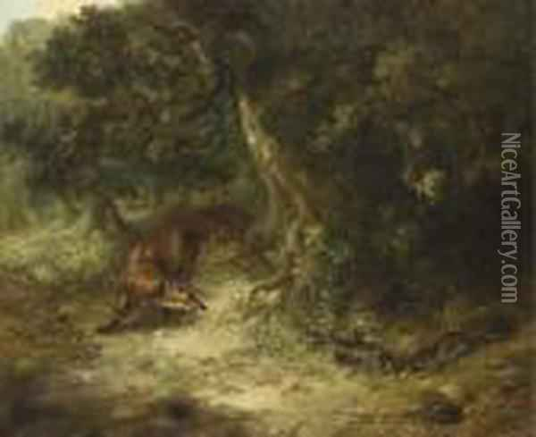 Rabbit Hunting Oil Painting - George Armfield
