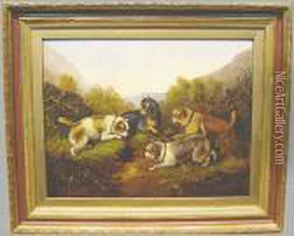 Closing In Oil Painting - George Armfield