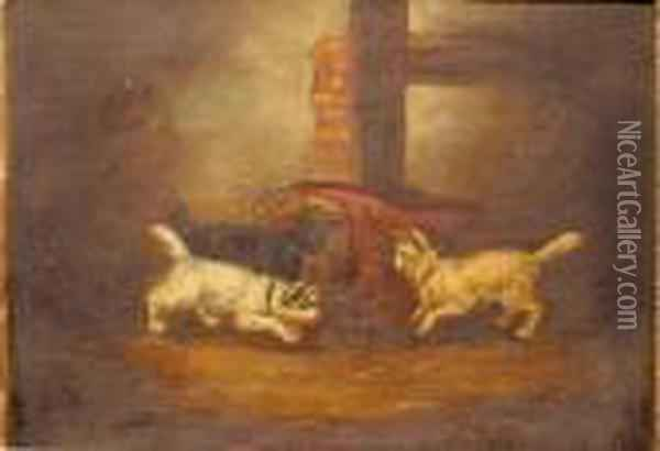 In The Trap Oil Painting - George Armfield