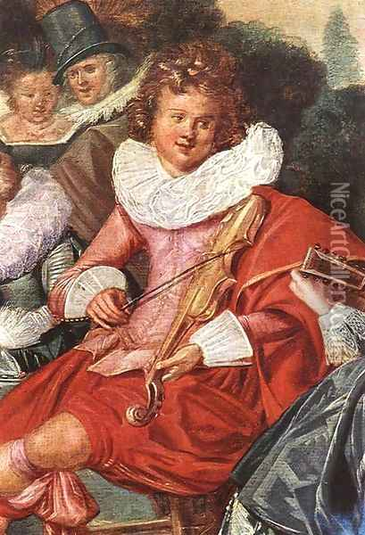 Amusing Party in the Open Air (detail) 1621 Oil Painting - Dirck Hals