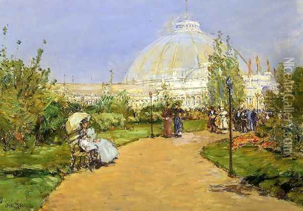Horticultural Building, World's Columbian Exposition, Chicago Oil Painting - Frederick Childe Hassam