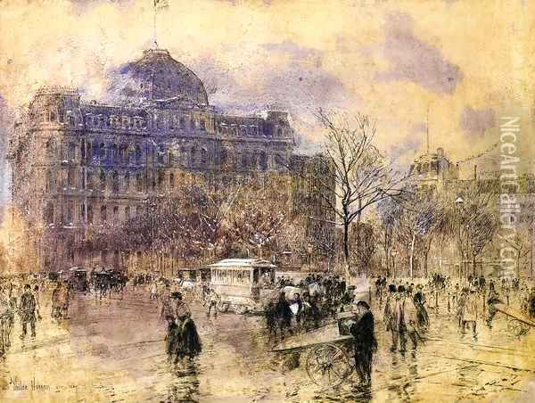 Cityscape Oil Painting - Frederick Childe Hassam