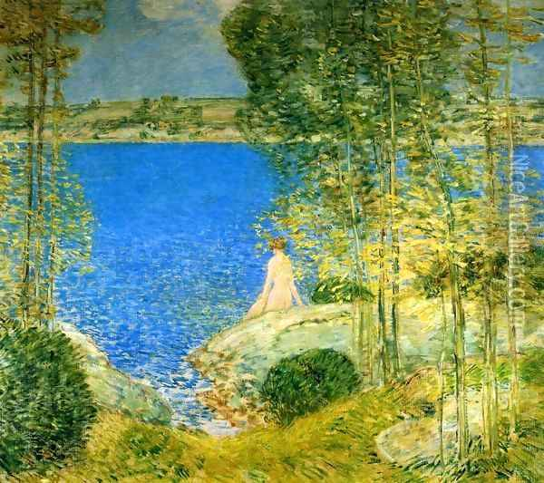 The Bather I Oil Painting - Frederick Childe Hassam